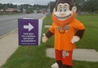 Bigfoot at the END ALZHEIMER'S WALK @DuBois City Park