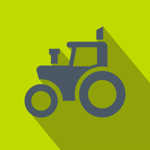 Grey Tractor over lime background