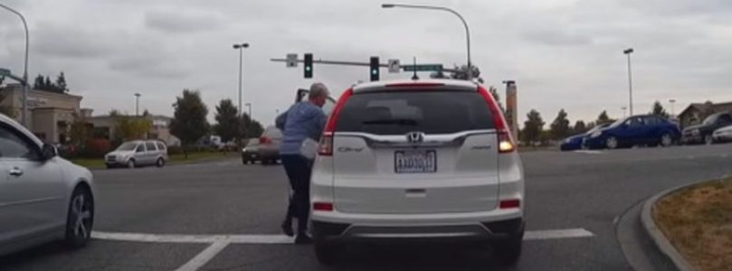 Woman Manages To Run Herself Over With Her Own Car And Walks Away (Watch)
