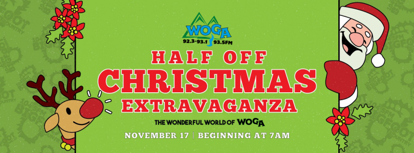 WOGA's ONE-HALF OFF CHRISTMAS EXTRAVAGANZA!