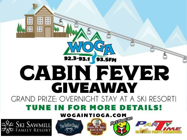 WOGA's Cabin Fever Giveaway! Win an Overnight Stay at a Ski Resort!