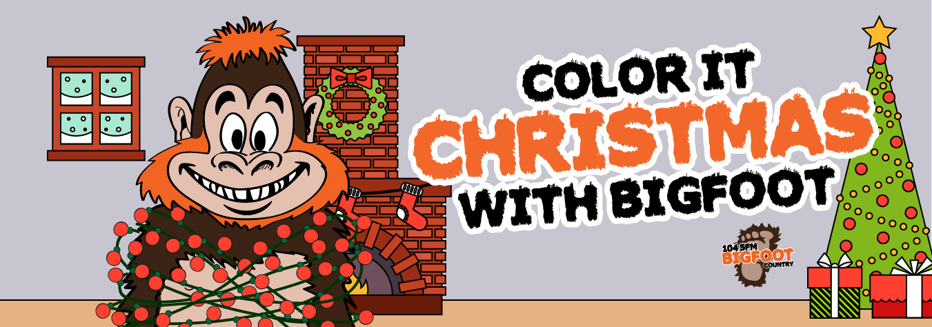 bigfoot presents coloring pages - photo#39