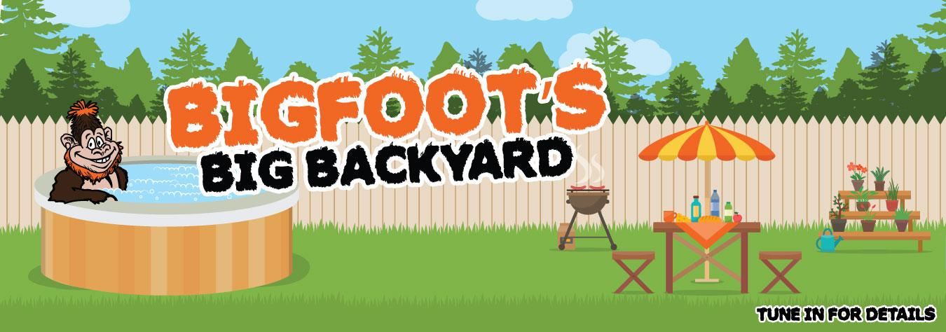 Bigfoot's big backyard slider