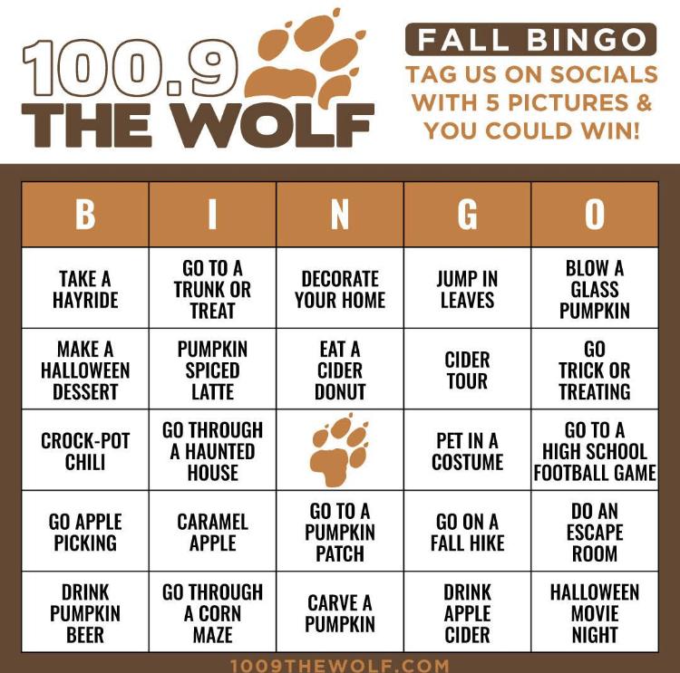 WOLF FALL BINGO BOARD
