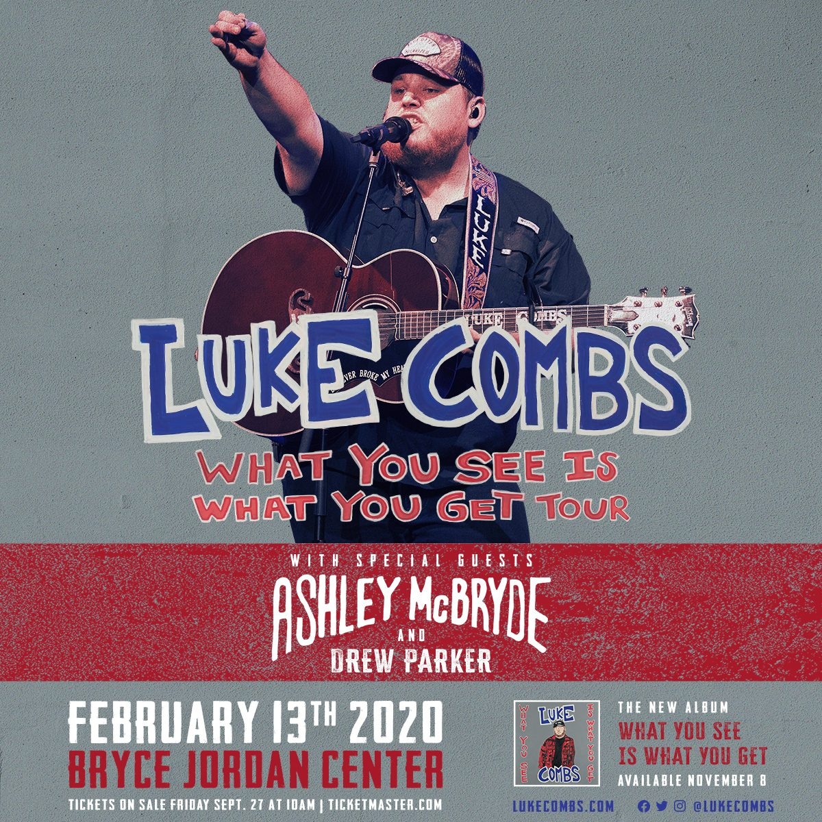 JUST ANNOUNCED: LUKE COMBS IS COMING TO BIGFOOT COUNTRY